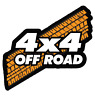 4x4 Off Road Die Cut Animated Light Up Sign Accessory for Jeep and 4x4 Vehciles