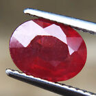 Certified 2.48ct 100% Natural Collection Twinkling Oval Rich Red Ruby Mozambiqu