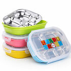 Children Kids Stainless Steel Thermal Bento Lunch Box Food Storage Container