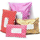 50x Polythene Plastic Mailing Postal Packaging Bags Self Seal Strip Polka Dots