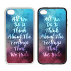 The Feelings We Hide - Rubber and Plastic Phone Cover Case #2- inspire Motivate