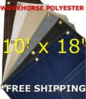 10' x 18' Workhorse Polyester Waterproof Breathable Canvas Tarp