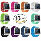 10 Pack Fitbit Blaze Replacement Bands Unisex Silicone Wristbands Bracelet Strap