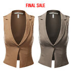 Doublju Womens One Buttoned Closure Slim Fit Vest