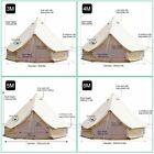 Standard Waterproof Cotton Canvas Large Family Camp Bell Tent Hunting Wall Tents