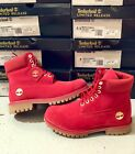 NEW TIMBERLAND BOOTS FOR MEN LIMITED EDITION 6 INCH PREMIUM WATERPROOF RED