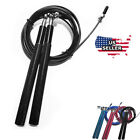 10ft Adjustable Speed Jump Rope Aerobic Exercise Skipping Weighted Steel Wire  image