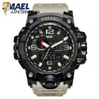 SMAEL Camouflage Sport Watch Men's Watch Dual Time Army LED Digital Watch