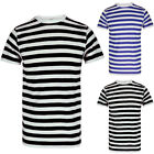 US Men's Slim Fit Striped Short Sleeve Muscle Tee T-shirt Casual Tops Blouse