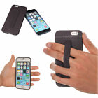 TFY Non-Slip Case Cover with Hand Strap Holder for i Phone 6 / 6S - Black