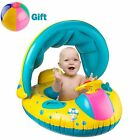Inflatable Baby Pool Float Swimming Ring with Sun Canopy for the Age 6-48+gift!