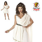 Womens Deluxe Classic Toga Costume Ladies Greek Roman Fancy Dress Party Outfit