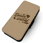 Death Before Decaf -  Printed Faux Leather Flip Phone Case #2 -Coffee Focus