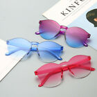 Women Men Fashion Clear Retro Sunglasses Outdoor Frameless Eyewear Glasses
