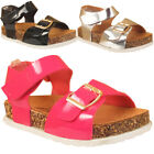 Kids Girls Infants Ankle Strap Shoes Buckle Wedge Heel Open Toe sandal Sizes