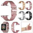 For Apple Watch Series 3/2/1 38/42mm Stainless Steel Band Buckle iWatch Bracelet image