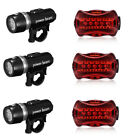 5 LED Lamp Bike Bicycle Front Head Light + Rear Safety Flashlight Waterproof