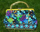 Vera Verra Bradley Barbara Frame Bag Navy Blue Yellow Handbag Purse NWT $188