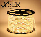 New LED Strip 220V - 240V RGB Waterproof 5050 SMD Lights Rope+ Free AC Adopter