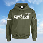 Drone Pilot Hoodie Quadcopter Drone Pilot Gift Fly Present Mens