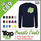 Custom Embroidered Sweat Shirt Bundle Personalised with your own Logo design