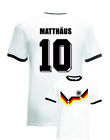 Lothar Matthaus Germany No.10 Italia 90 Mens Football Ringer T-Shirt