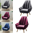 Velvet Grey Occasional Lounge Accent Tub Chair Fabric Armchair Retro Living Room