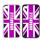 Personalised Union Jack-Pink -Rubber and Plastic Phone Case #2-UK Britain London