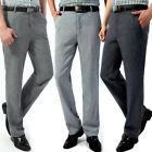 Men Casual Dress Pants linen Slim Fit Straight-Leg Office Business Trousers HOT
