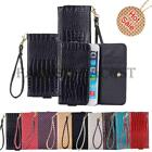For Xgody D11 Diamond Pattern 3D Crocodile PU Leather Bag Wallet Flip Case Cover