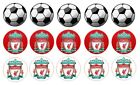 Liverpool football cupcake toppers wafer or icing sheets Edible 1.5