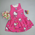 NEW Very Cute Hello Kitty Toddler Kids Girl Party Summer Dress FREE SHIPPING