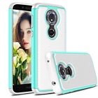 For Motorola Moto G6 Play Shockproof Armor Phone Case/9H Glass Screen Protector