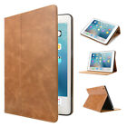 Genuine Leather Case Smart Card Holder Wallet Cover For iPad 9.7 5/6th Pro 10.5""