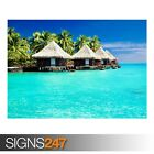 TROPICAL BUNGALOWS (AE072) NATURE POSTER - Photo Poster Print Art A0 A1 A2 A3 A4