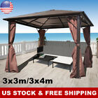 Garden Gazebo Wedding Party Tent Canopy Outdoor Awning 3x3/4x3m with Curtain New