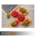 BRUSCHETTA TOPPED WITH (AE805) - Photo Picture Poster Print Art A0 A1 A2 A3 A4