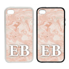 Marbled Ink Monogram (28) -Rubber and Plastic Phone Cover Case #1- Personalised