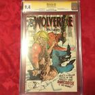 Wolverine #10 (Aug 1989, Marvel)cgc Nm 9.4 signed Lein Wein 1st sabertooth