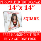 Personalised Framed Photo Canvas Print Custom Large Box Printing READY TO HANG <br/> Your photo to canvas GREAT VALUE 3 FOR THE PRICE OF 2