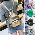 Women's Metallic Faux Leather Small Mini Backpack Rucksack Daypack Bag Purse