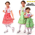 New & Authentic German Oktoberfest Dress For Girls Colors Red/Grey & Green/Rose