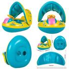 Baby Swimming Pool Floats Boat Inflatable Sunshade Canopy for Kids 6-36 Months