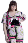 New Womens Plus Size Shrug Ladies Chains & Tassels Front Tie Top Frill Blouse