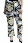 New Womens Plus Size Trousers Ladies Chains Paisley Tassels Print Pants Bottoms