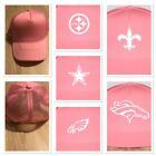 NFL Pink Trucker Hat Custom Pick Your Team Breast Cancer Steelers Cowboys Eagles