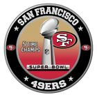 San Francisco 49ers Super Bowl Championship Sticker, NFL Decal 8 Different Sizes