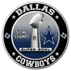 Dallas Cowboys Super Bowl Championship Sticker, NFL Decal 9 Different Sizes $3.0 USD on eBay