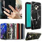 For Samsung Galaxy A8 2018 A530F New Black Shock Proof Gel Ring Phone Case Cover