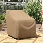 Patio Chair Cover Outdoor Furniture Protector Seat Weather Resistant Cappuccino